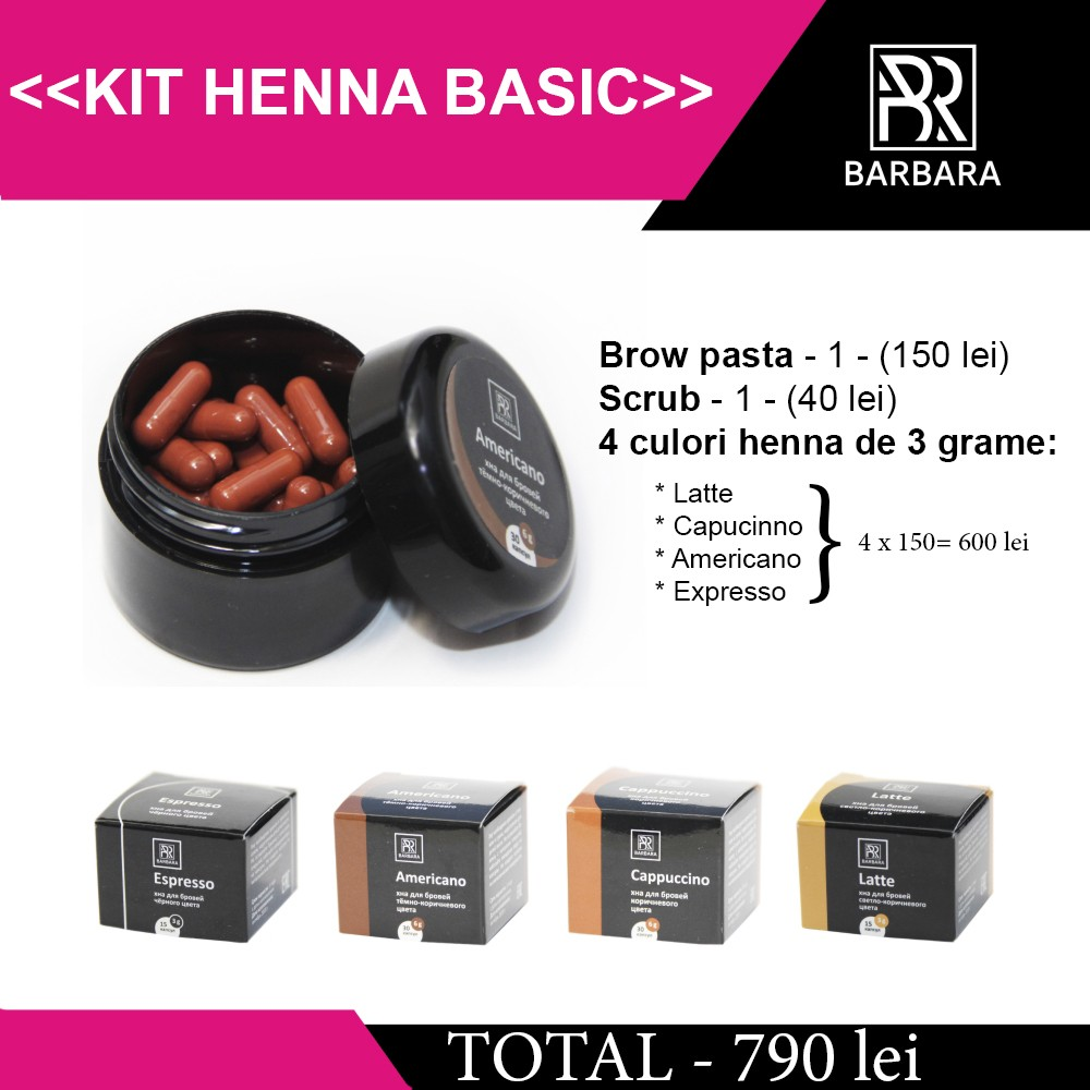 KIT HENNA BARBARA BASIC